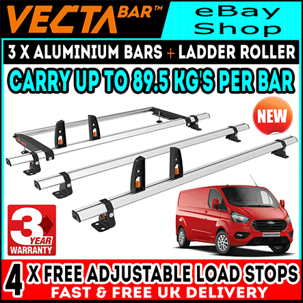 Rear Loading Roller to Fit Vecta Roof Bars Custom 2013+ LOW ROOF, TWIN REAR