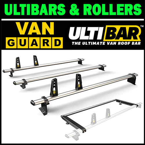 Van Guard Ulti Roof Rack Bars and Roller